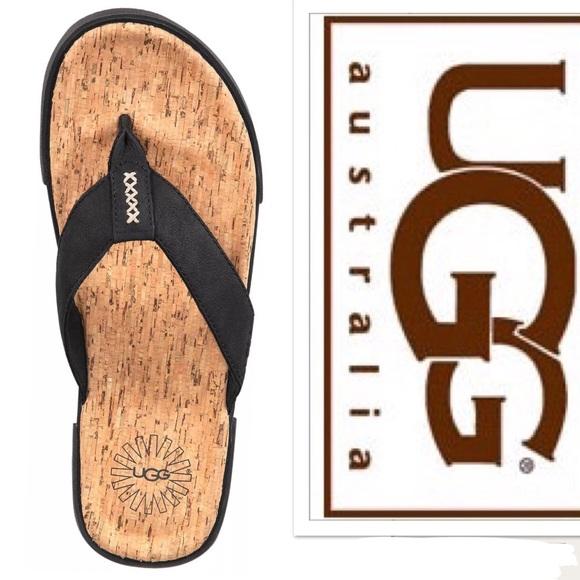 d7acc6ce554 Men's Ugg Braven Thong Flip Flop Sandals NWT